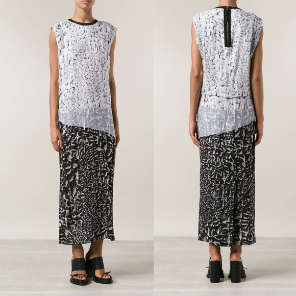 Helmut Lang Dresses & Skirts - Helmut Lang Annex Print Silk Maxi Dress Size 6